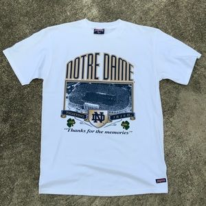 VTG 1996 Notre Dame Single Stitched Tee USA made
